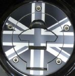 "TRIUMPH Petrol/Gas Cap. Aluminium Tank Decal ""Union Flag"" (5 Screw)"